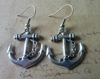 Anchor - earrings ~ silver ~