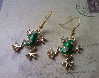Frog earrings ~ gold ~.