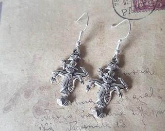 Scarecrows earrings ~ silver ~
