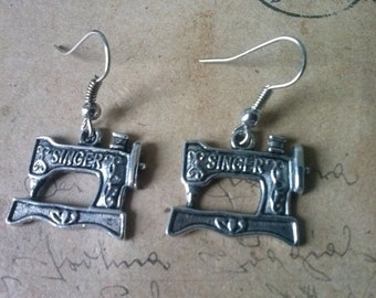 Sewing machines earrings ~ silver ~