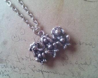 Monkey Necklace-Silver color-