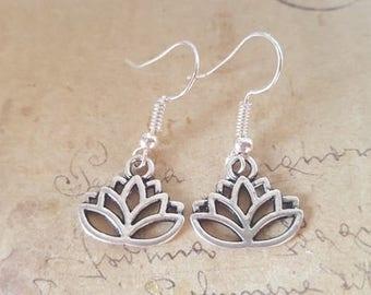 Lotus Blossom earrings ~ silver ~
