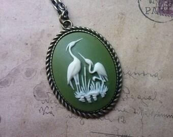 Crane-gems chain ~ bronze ~.