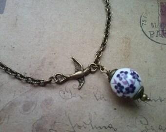 Swallow Necklace ~ Bronze ~