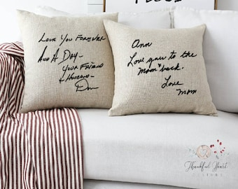 Loved ones personal handwriting pillow casememorial pillow casein loving memory pillowpersonalized pillowloving meomory pillowcase