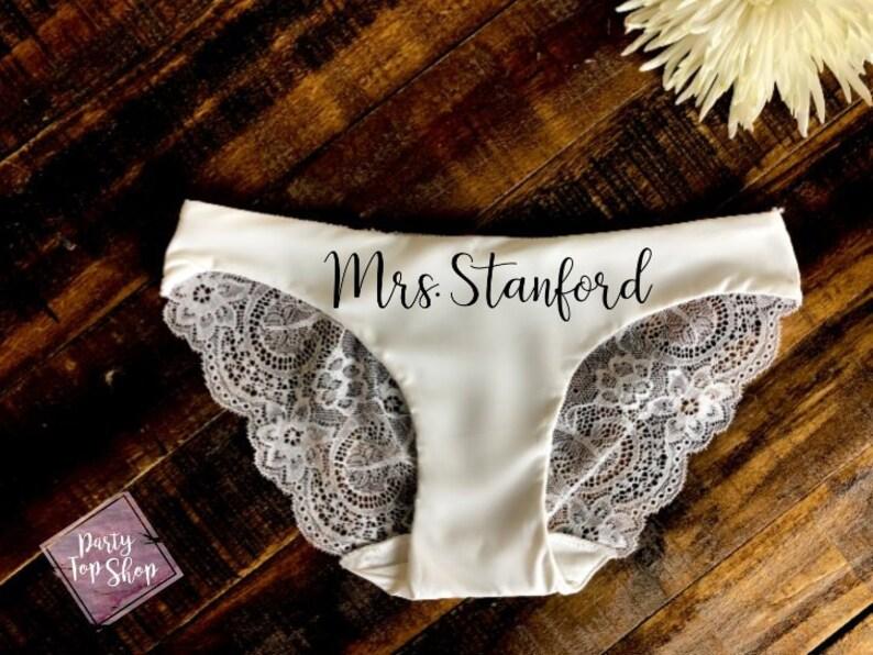 3ea826b47d2045 Custom Bride Future Mrs Lace Panties Personalized Honeymoon