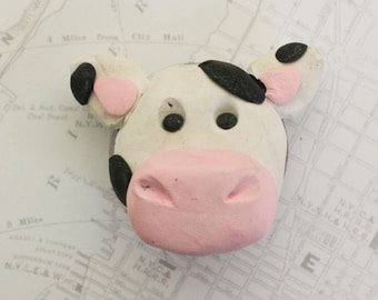 Cow magnet-polymer clay