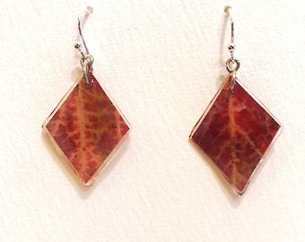 Diamond Maple Leaf Earrings
