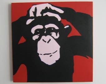 Cheeky monkey on Canvas