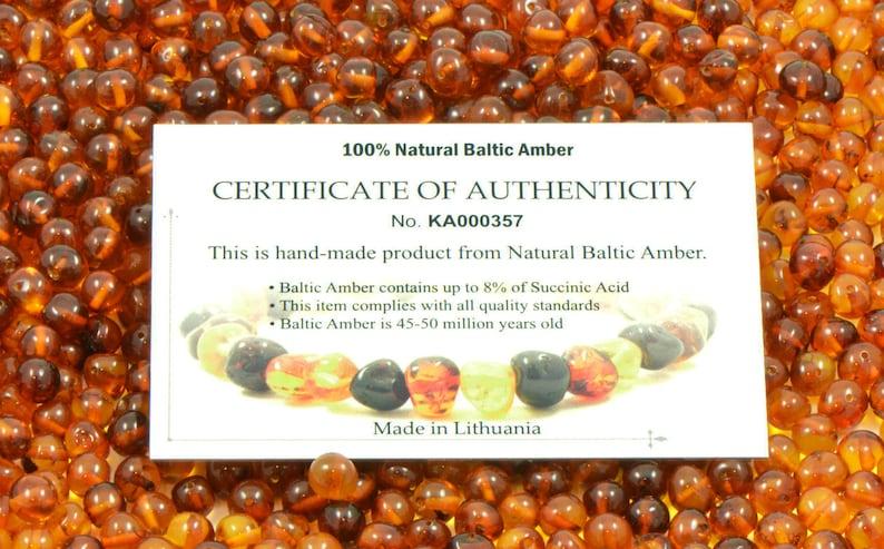 Genuine Amber Bead Necklace Rainbow Baltic Amber Necklace Adult 45-65cm 17.7-25.5 in Natural Amber Necklace Raw Amber Beads