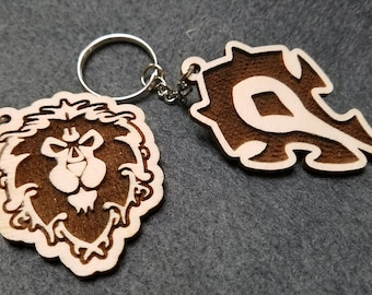 Horde/ Alliance Keychains - Free shipping!