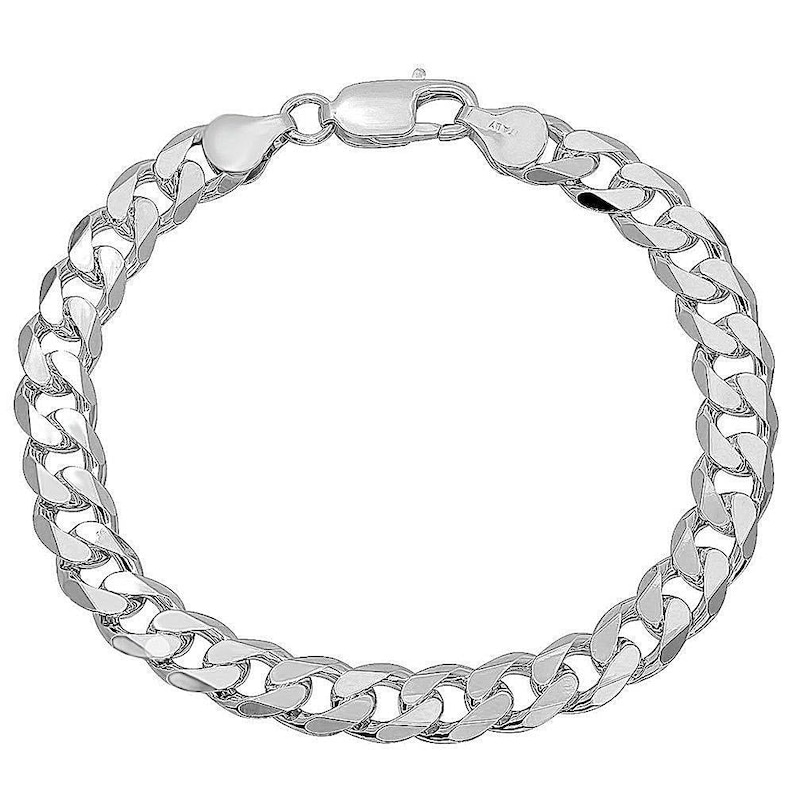 Sterling Silver 7mm Wide Figaro Chain Anklet Necklace Bracelet