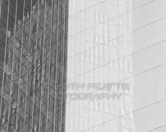 Modern black and white architectural photography. Phoenix print #1.