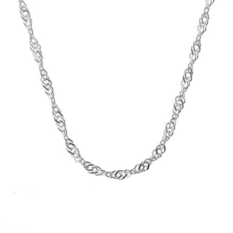 Select Length Sterling Silver Singapore Chain Clasp Spring Ring