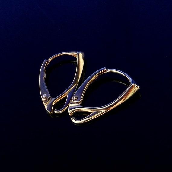 Vermeil 24k Gold Over Sterling Silver Lever Backs Earwires Leverback