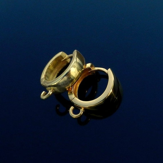 EXCLUSIVE Vermeil 24k Gold Over Sterling Silver Hoop Earring Lever Back Ear Wires