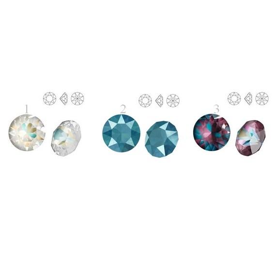 1088 SS 39 Swarovski Crystal XIRIUS Chaton 8.16mm Swarovski Crystals perfect for earwires and pendants