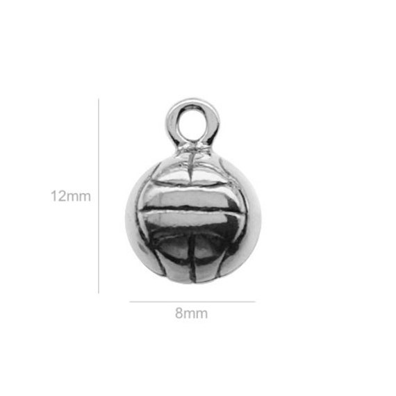 Sterling Silver Charm ball Charm Charms Pendants for Bracelet and Pendant Jewelry Making & Beading