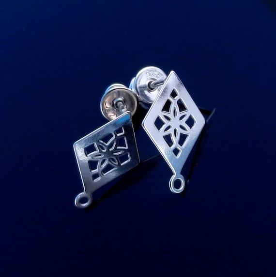 Sterling Silver Ear Posts with Ear nuts earrings  Findings  Components & Blanks  Earrings  Posts ear stud