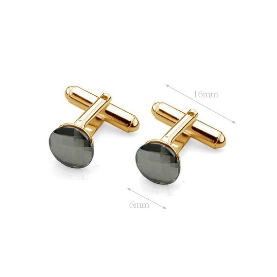 VERMEIL 24K GOLD Sterling Silver Cufflink Blank Cufflink Base Custom Cufflink Bezel Cufflink Men Jewelry 6mm Pad Swarovski Crystal