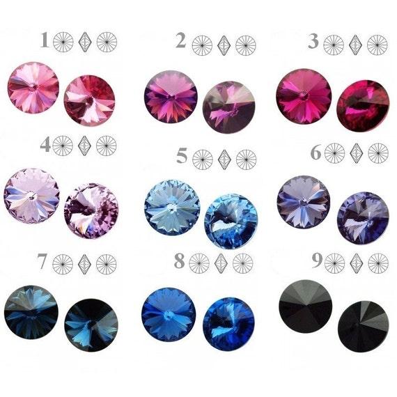 2pcs 1122 Swarovski Crystal Rivoli SS 39 8.3mm perfect for earwires and pendants