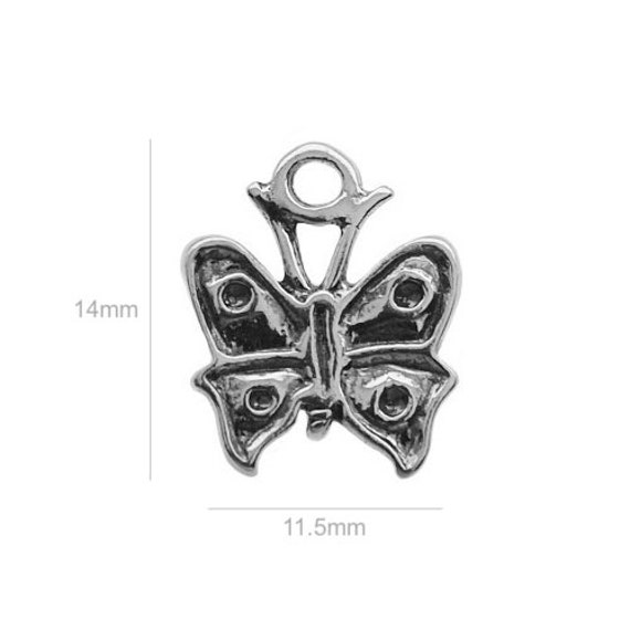Sterling Silver Charm butterfly Charm Charms Pendants for Bracelet and Pendant Jewelry Making & Beading