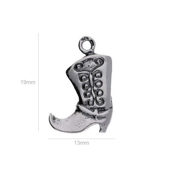 Sterling Silver Charm shoe Charm Charms Pendants for Bracelet and Pendant Jewelry Making & Beading Charms
