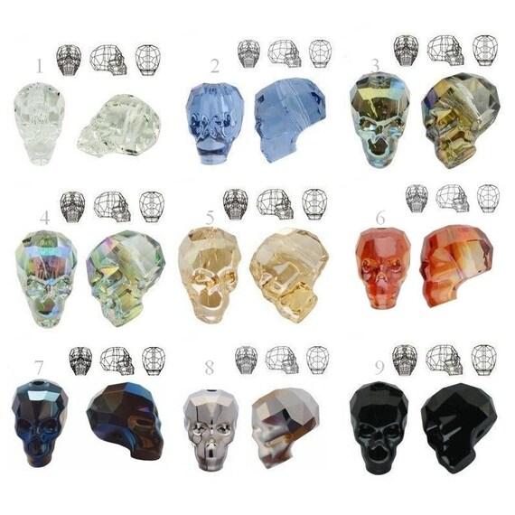 5750 Swarovski Crystal SKULL BEAD 13mm Swarovski Crystals perfect for earwires and pendants