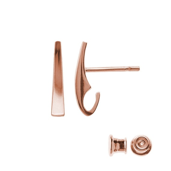 ROSE GOLD Sterling silver ear post silver earring post stud earring posts earrings findings jewelry supplies