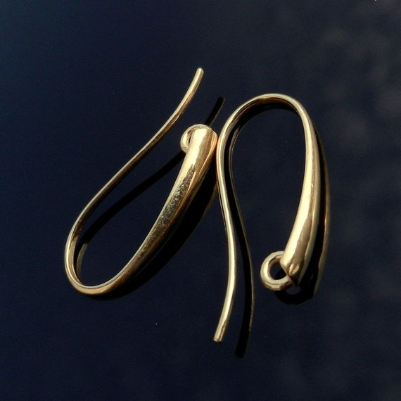 Top Quality Vermeil 24k Gold over Sterling Silver Hook earrings Findings Ear wires Earrings Dangling