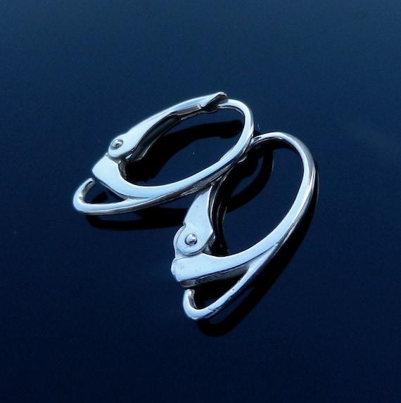 Sterling silver lever back earrings ear wire findings jewelry