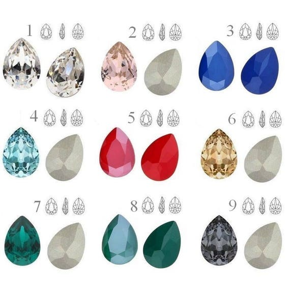 Crystals Swarovski 4320 14mm Pear-Shaped perfect for earwires, rings and pendants