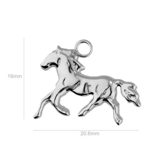 Sterling Silver Charm Horse Charm Charms Pendants for Bracelet and Pendant Jewelry Making & Beading Charms