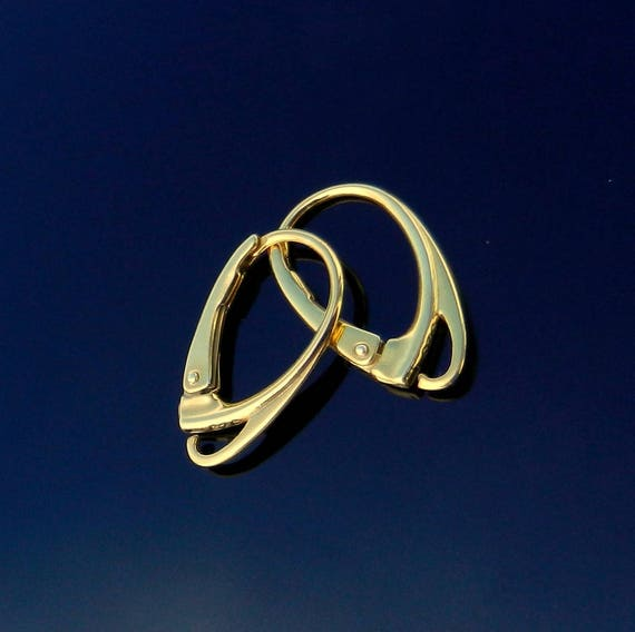 Vermeil 24k. Gold Over Sterling Silver Earring Lever Back Ear Wires