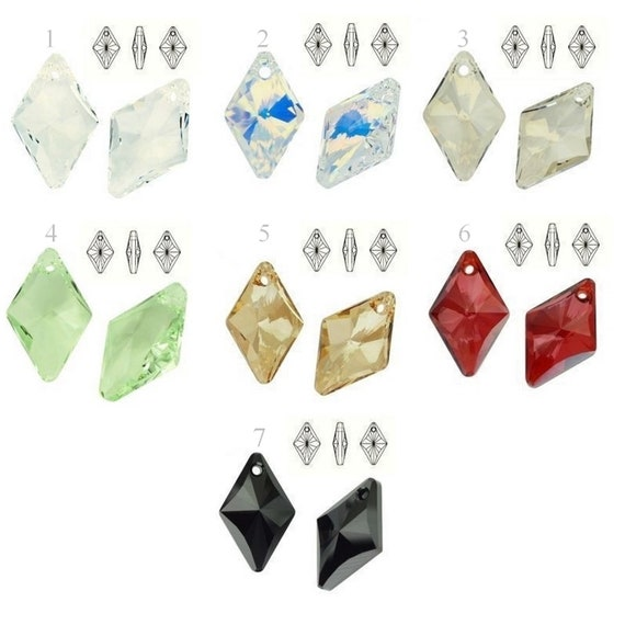 6320 Swarovski Crystals Rhombus 14mm perfect for pendants and earrings jewelry supplies crystals
