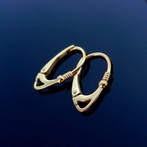 Vermeil 24k Gold Over Sterling Silver Earring Lever Back Ear Wires Europe earwire