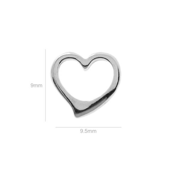 Sterling Silver Charm Tiny Heart Charm Charms Pendants for Bracelet and Pendant Jewelry Making & Beading Charms