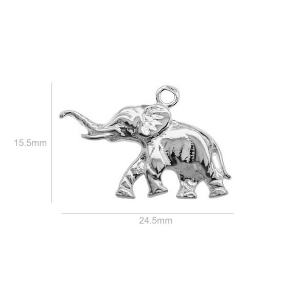 Sterling Silver Charm Elephant Charm Charms Pendants for Bracelet and Pendant Jewelry Making & Beading Charms