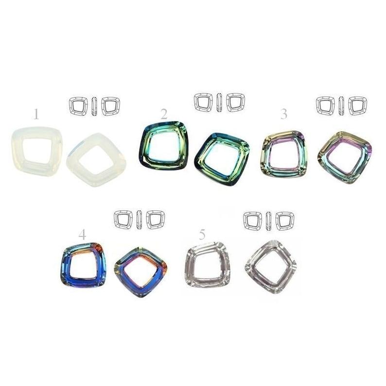 4f6c298a0 4437 14mm Swarovski COSMIC SQUARE Swarovski Crystals perfect   Etsy