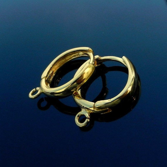 Vermeil 24k Gold Over Sterling Silver Earring Silver Lever Back Ear Hooks Wires Findings Jewelry Making