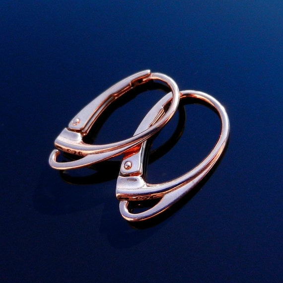 Sterling silver leverback and rose gold Earring Ear Wires