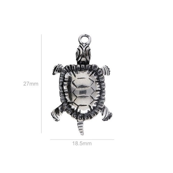 Sterling Silver Charm turtle Charm Charms Pendants for Bracelet and Pendant Jewelry Making & Beading