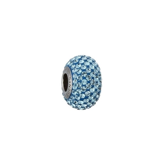 Swarovski Crystals Beads Be Charmed Pave Crystal Silver Aquamarine module perfect for bracelets and necklace jewelry supplies crystals LOVE