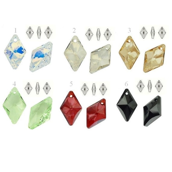 6320 Swarovski Crystals Rhombus 19mm perfect for pendants and earrings jewelry supplies crystals