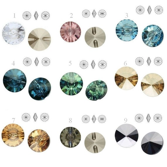 3015 Swarovski Crystal Buttons 16mm jewelry supplies crystals