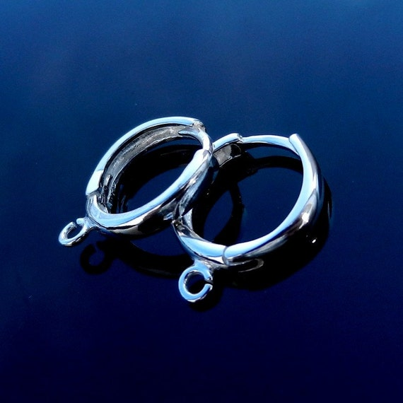 Sterling Silver Hoop Earrings Lever Backs silver ear wires high quality