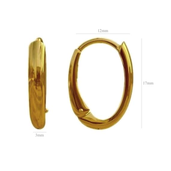 EXCLUSIVE Vermeil 24k Gold over Sterling Silver Oval Leverback ear earrings for Swarovski 6040 Helios 6041 Victory 4137 Cosmic Oval