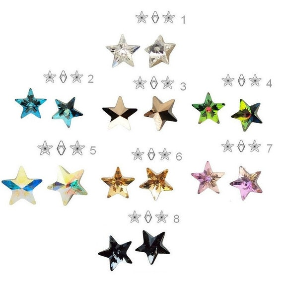 Swarovski Crystal 4745 Star Crystal 10 mm perfect for earwires and pendants