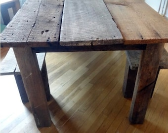 Barn Wood Table Etsy - Barn wood picnic table