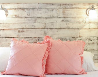Rustic Reclaimed Headboard White Wash Look FREE SHIP Summer Sale